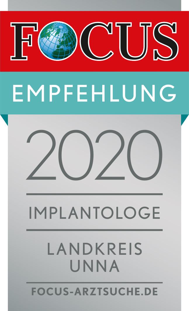 Focus Empfehlung 2020 Implantologe im Landkreis Unna